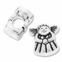 MIOVI™ Silver Plated Large Hole 13mm Cute Angel Bead (1PC)