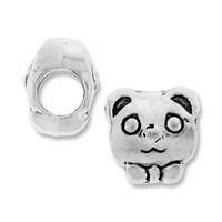 MIOVI™ Silver Plated Large Hole 10mm Bow-Tie Bear Bead (1PC)