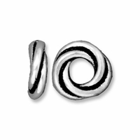 Antiqued Silver 8mm Twisted Spacer Large Hole Bead (1PC)