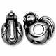Antiqued Silver 12mm Rooster Euro Large Hole Bead (1PC)