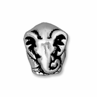 Antiqued Silver 11.5mm Elephant Euro Large Hole Bead (1PC)