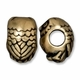 Brass Oxide 11mm Owl Euro Large Hole Bead (1PC)