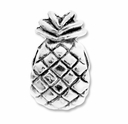 MIOVI� Silver Plated Large Hole 11mm Pinapple Bead (1PC)
