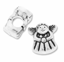 MIOVI� Silver Plated Large Hole 13mm Cute Angel Bead (1PC)