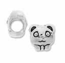 MIOVI� Silver Plated Large Hole 10mm Bow-Tie Bear Bead (1PC)