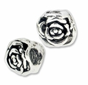 MIOVI� Silver Plated Large Hole 10mm Rose Beads (1PC)