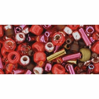 TOHO Samurai Red Brown Seed Bead Mix