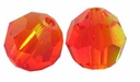 Fire Opal Swarovski 5000 8mm Crystal Beads (1PC)
