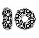 Antiqued Silver 12.5mm Casbah Euro Large Hole Bead (1PC)