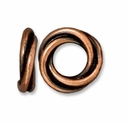 Antiqued Copper 12mm Twisted Spacer Large Hole Bead (1PC)