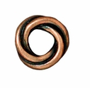 Antiqued Copper 10mm Twisted Spacer Large Hole Bead (1PC)