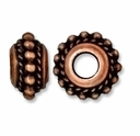 Antiqued Copper 11mm Beaded Twist Euro Large Hole Bead (1PC)