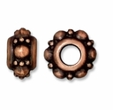 Antiqued Copper 10mm Turkish Euro Large Hole Bead (1PC)