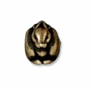 Brass Oxide 11mm Rabbit Euro Large Hole Bead (1PC)