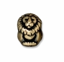 Brass Oxide 11mm Lion Euro Large Hole Bead (1PC)