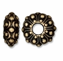 Brass Oxide 12.5mm Casbah Euro Large Hole Bead (1PC)