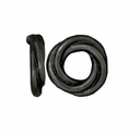 Black Finish 10mm Twisted Spacer Large Hole Bead (1PC)