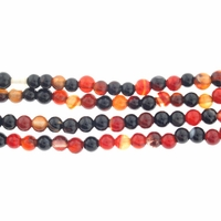 4mm Natural Agate Round Beads 16 inch Strand