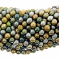 Multi-Color Potato Freshwater Pearl 5-6mm Bead Strand