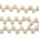 White 3-4mm Top Drilled  Pearl Bead Strand