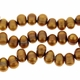Golden Bronze 6-7mm Top Drilled  Pearl Bead Strand
