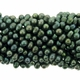 Forest Green 6-7mm Top Drilled  Pearl Bead Strand