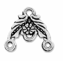 Antiqued Silver 1-3 Floral Link Connector (10PK)
