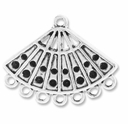 Antiqued Silver 1-7 Fan Link Connector (6PK)