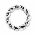 Antiqued Silver 15mm Twisted Ring Link Connector (10PK)