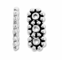 Antiqued Silver 5mm 3 Hole Daisy Spacer Beads (20PK)