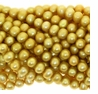 Lt. Golden Olivine Potato Freshwater Pearl 5-6mm Bead Strand