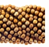 Coppery  Bronze Potato Freshwater Pearl 5mm Bead Strand