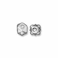 Bright Silver  3mm Faceted Cube Bead (10PK)