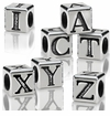 4.5mm Sterling Silver Alphabet Beads with 2.7mm hole
