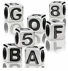 4.8mm Rounded Sterling Silver Alphabet Beads