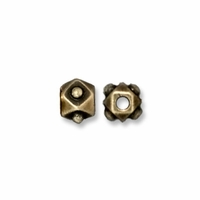 Brass Oxide 3mm Faceted Cube Bead (10PK)