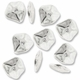 Antiqued Silver 13mm Wavy Flat Nugget Beads (10PK)