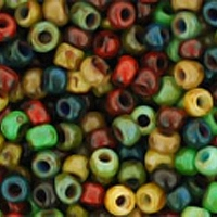 Opaque Picasso Mix Seed Bead size 11/0