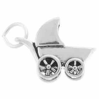 Sterling Silver Baby Buggy Sterling Silver Charm