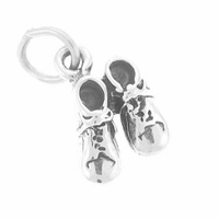 Baby Shoes Sterling Silver Charm