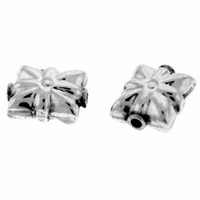 "Bali Gift Box"" Sterling Silver Bead (1PC)"