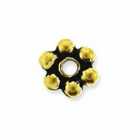 3mm Antique Gold Beaded Heishi Spacer (10PK)