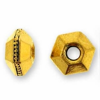 5mm Antique Gold Faceted Spacer (10PK)