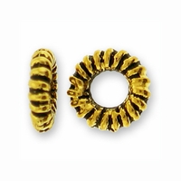 Antique Gold Coiled Ring Bead (10PK)