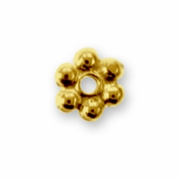3mm Bright Gold Beaded Heishi Spacer (10PK)