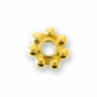 4mm Bright Gold Heishi Spacer Bead (10PK)
