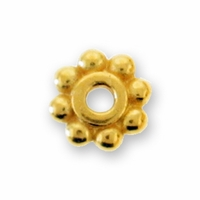 6mm Bright Gold Heishi Spacer Bead (10PK)