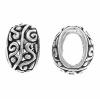 Large Hole Bali Filigree Sterling Silver Bead (1PC)