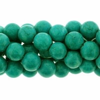 Turquoise Howlite Blue Green  8mm Round Beads 16 inch Strand