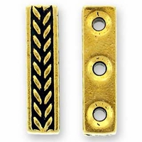 Antique Gold Braided Bar 3 Hole Link